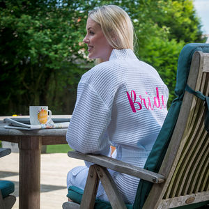 Personalised Bridal Waffle Dressing Gown - lingerie & nightwear