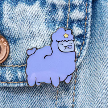 Adventure Time Llama Pin