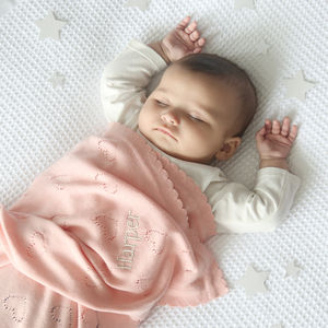 Heart Pointelle Scallop Blanket - baby care