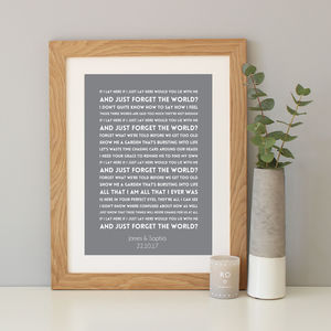 Snow Patrol 'Chasing Cars' Song Lyrics Print