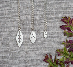 Leaf Pendant In Solid Sterling Silver