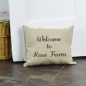 Personalised Welcome Door Stop