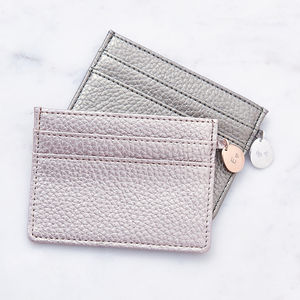 Personalised Metallic Card Holder - gifts for her sale