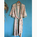 Chantilly Cream Organic Cotton Long Kimono