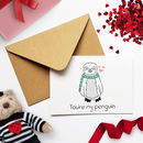 Baby Penguin Valentines Day Card