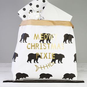 Personalised 'Meowy Christmas' Christmas Sack For Cats - stockings & sacks