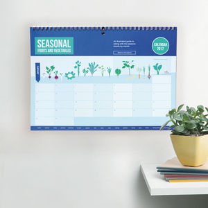 Seasonal Vegetable Calendar 2017