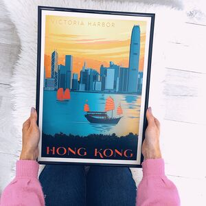 Victoria Harbour, Hong Kong Travel Print