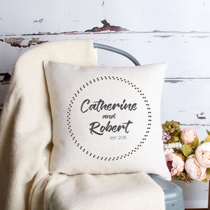 Personalised Wedding Couple Cushion Cover - sale by category