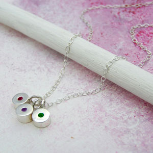 Personalised Family Birthstone Gemstone Necklace