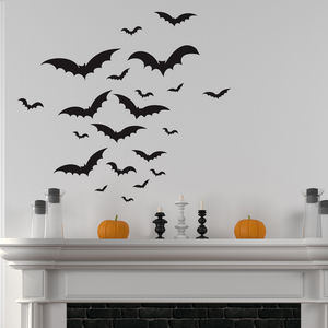 Halloween Bats Wall Sticker Set - party decorations