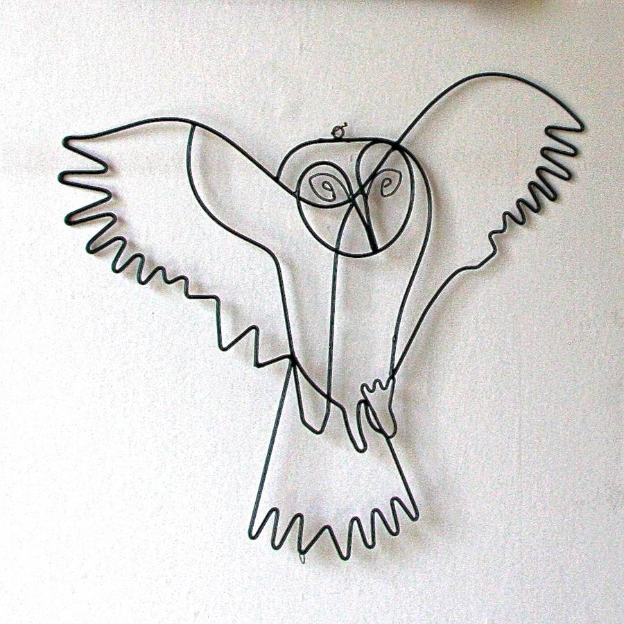 Delicieux Flying Owl Wire Wall Art