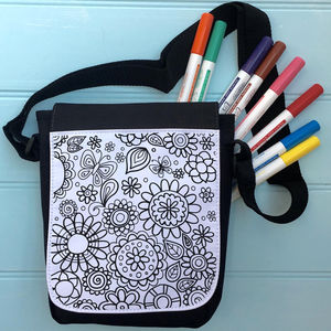 Flower Colour In Bag For iPad - bags & purses