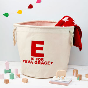 Child's Personalised Alphabet Toy Storage Bag