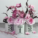 Personalised Vintage Style Table Number Pots