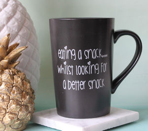 'Eating A Snack, Whilst Looking For A Better Snack' Mug - home sale