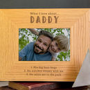 Personalised Daddy Photo Frame From Son / Daughter