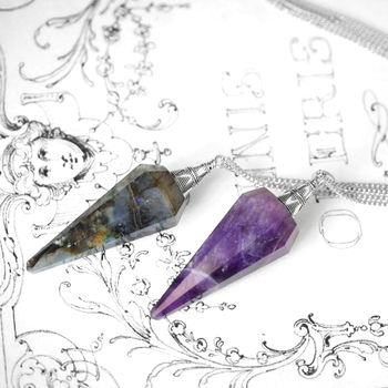 Boho Gemstone Pendulum Necklace