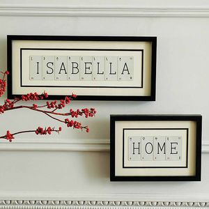 Personalised Name Vintage Picture - vintage inspired home accessories