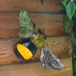 Bumblebee Garden Wall Sculpture - sculptures