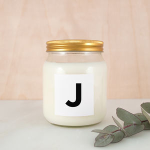 Personalised Letter Scented Soy Candle