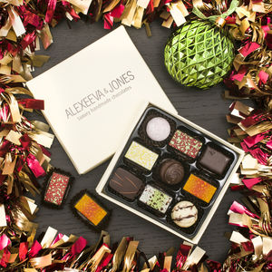 Artisan Chocolates Nine Piece Collection - 30th birthday gifts