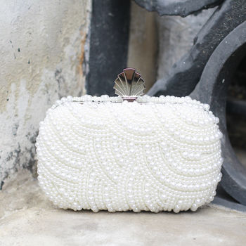 Eva Art Deco Pearl Clutch Bag