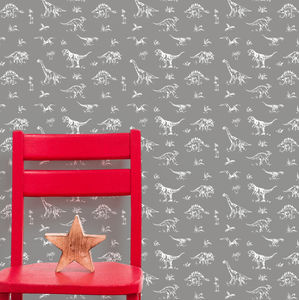 Vintage Dinosaur Wallpaper - home decorating