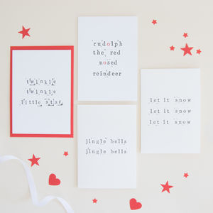 Festive Song Christmas Card Pack - cards & wrap
