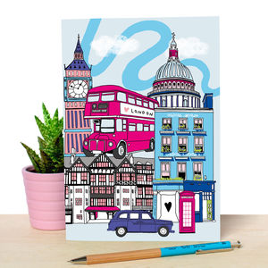 Notebook With Cute London Illustration