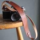 Personalised Wide Leather Camera Strap