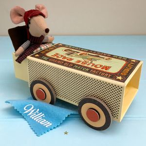 Personalised Boy Racer Mouse - soft toys & dolls
