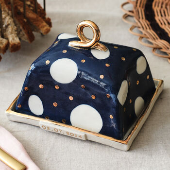 Personalised Cosmic Ceramic Butter Dish
