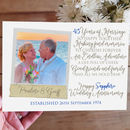 Personalised 45th Wedding Anniversary Photo Card