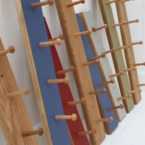 Coloured Peg Rail - bathroom