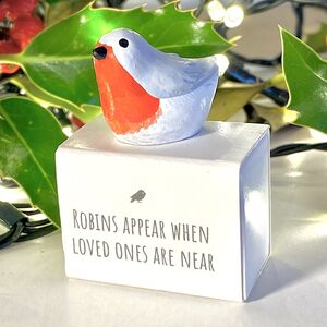 'Robins Appear When Loved Ones Are Near' Token Gift