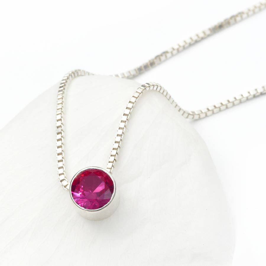 41f68252fe83e Ruby Necklace July Birthstone