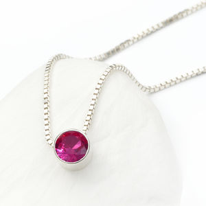 Ruby Necklace July Birthstone - july birthstone