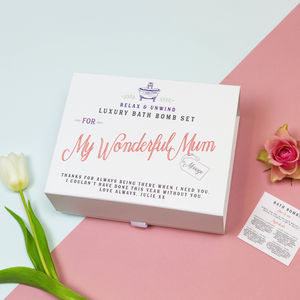 Personalised Bath Bomb Gift For Mum
