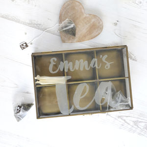 Personalised Tea Box - storage & organising