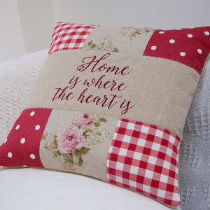 Home Is Where The Heart Is Cushion - personalised cushions