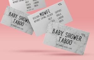 Baby Shower Taboo | Baby Shower Game