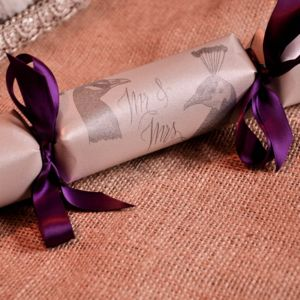 Handmade Wedding Favour Crackers Box Of Six Mr And Mrs
