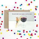 Large Wine Funny Greeting Card