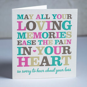 Wise Words Condolence Card - sympathy & sorry cards