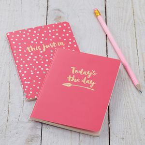 Pink Notebooks - placemats & coasters