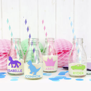 Personalised Glass Milk Bottle - kitchen