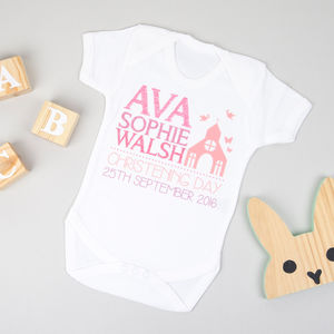 Personalised Christening Bodysuit - christening gifts