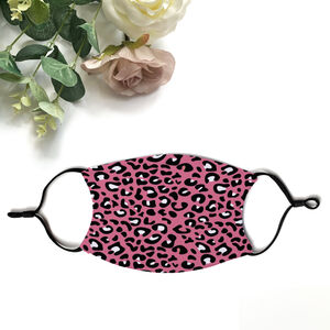 Pink Leopard Print Facemask With Filters