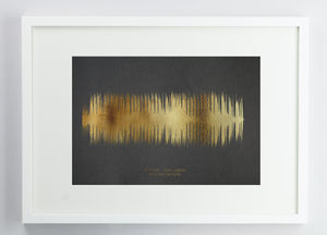 Personalised Metallic Look Sound Wave Print - personalised